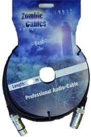 Zombie Mikrofon Kabel XLR 6m schwarz