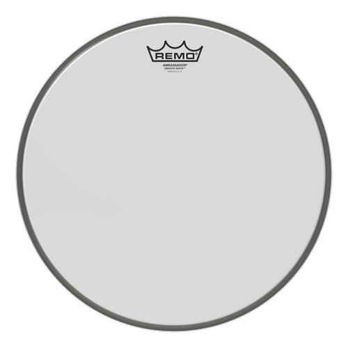 Remo Ambassador Smooth White (Weiß Glatt) 14'' Fell