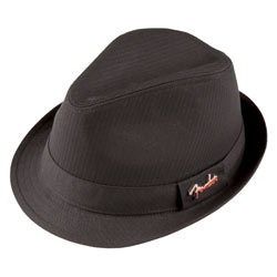 Fender Fedora Hut mit Pin Black L/XL