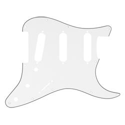 Fender Pickguard Strat 11 Hole S/S/S Configuration 3-Ply Parchment