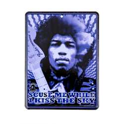 "Fender Jimi Hendrix ""Kiss the Sky"" Blechschild"