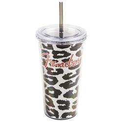 Fender Acrylic Tumbler 24 oz Leopard Glitter