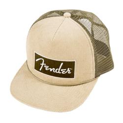 Fender Corduroy Trucker Cap Olive Green