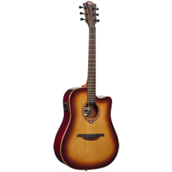 LAG Tramontane 100 Dreadnought Cutaway Brown Shadow