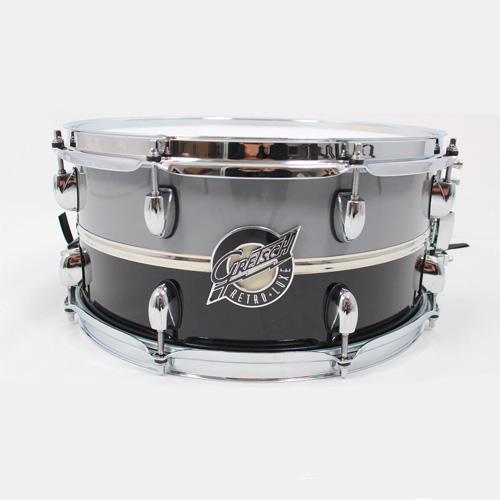 Gretsch Retro-Luxe Snare Limited Edition Schwarz/Grau 14x6,5