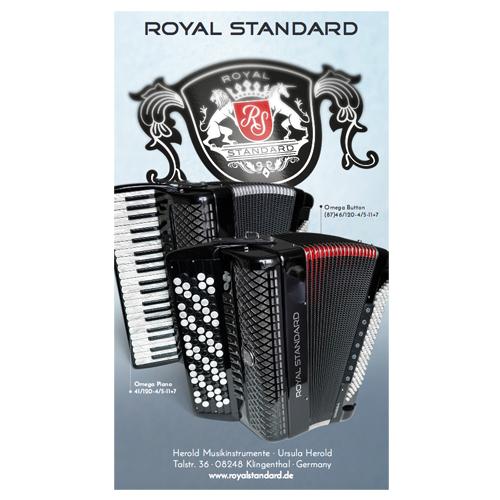 Royal Standard Omega Piano 41/120-4/5-11+7 BU Blau