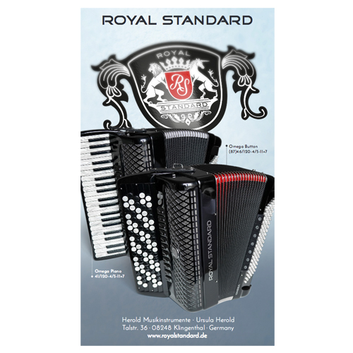 Royal Standard Omega Piano 41/120-4/5-11+7 RD Rot