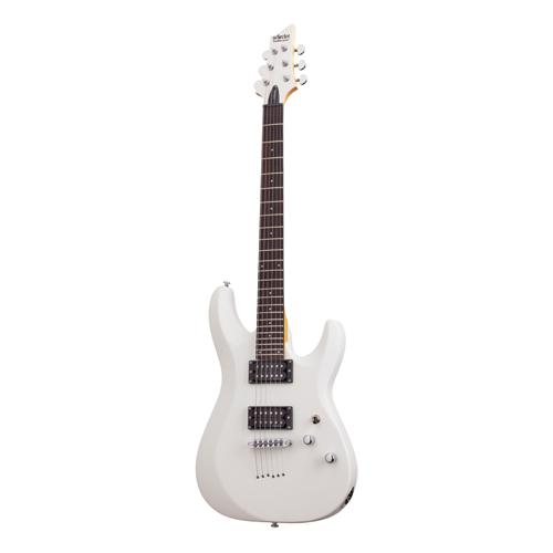 Schecter C-6 Deluxe E-Gitarre Satin White