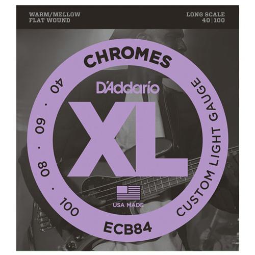 Daddario ECB84 Chromes Bass Saiten Flatwound