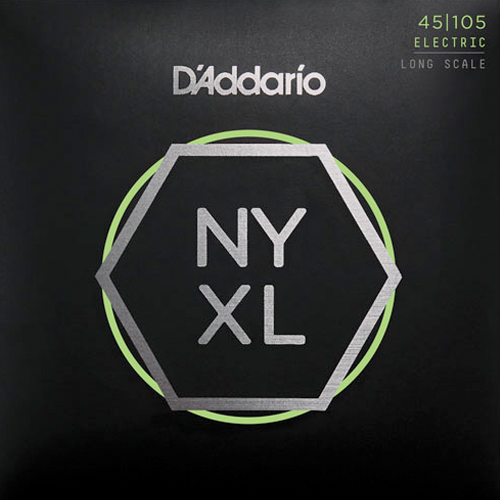 D'Addario NYXL45105 Nickelplated Steel Light Top Medium Bottom