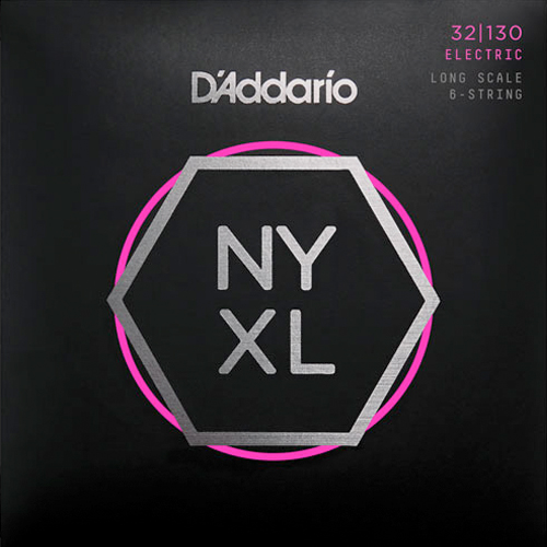 D'Addario NYXL32130 Nickelplated Steel Regular Light 6-Saiter