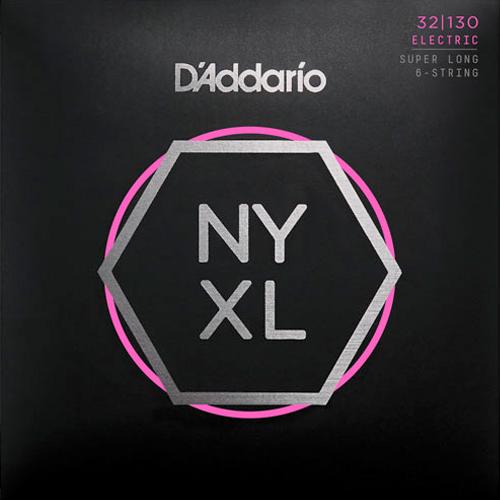 D'Addario NYXL32130SL Nickelplated Steel Regular Light Super Long 6-Saiter