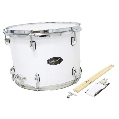 Basix Marching Drum weiß 14x10""