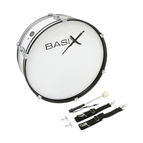 Basix Marching Drum weiss 22x7""