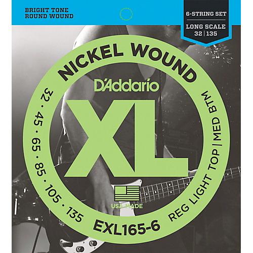 D'Addario EXL165-6 Nickel E-Bass  6-Saiter Saiten