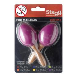 Stagg EGG-MA SMG Maracas kurz Magenta