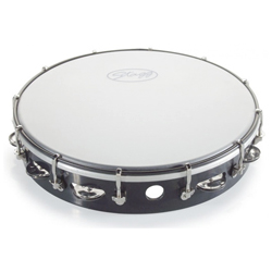 Stagg TAB-112P/BK Kunststoff Tambourin 12""