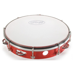 Stagg TAB-110P/RD Kunststoff Tambourin 10""