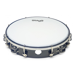Stagg TAB-210P/BK Kunststoff Tambourin 10""
