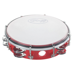 """Stagg TAB-208P/RD Kunststoff Tambourin 8"""""""