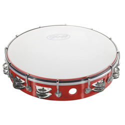 Stagg TAB-212P/RD Kunststoff Tambourin 12""