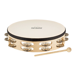 "Nino NINO26 Holz Tambourine 10"""