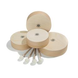 Rohema 61594 Holz Tamburin mit Schlegel 20 cm