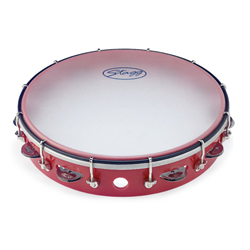 Stagg TAB-112PRD Kunststoff Tambourin rot 12""