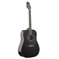 Stagg SW201BK Westerngitarre schwarz