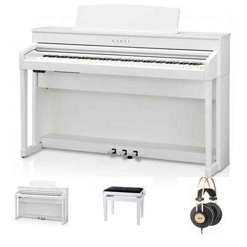 Kawai CA-79 WH Digitalpiano Set / Bundle inkl. Aufbau