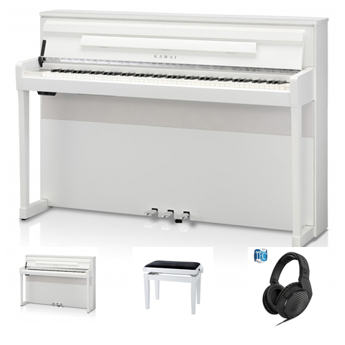 Kawai CA-99 WH Digitalpiano Set / Bundle inkl. Aufbau
