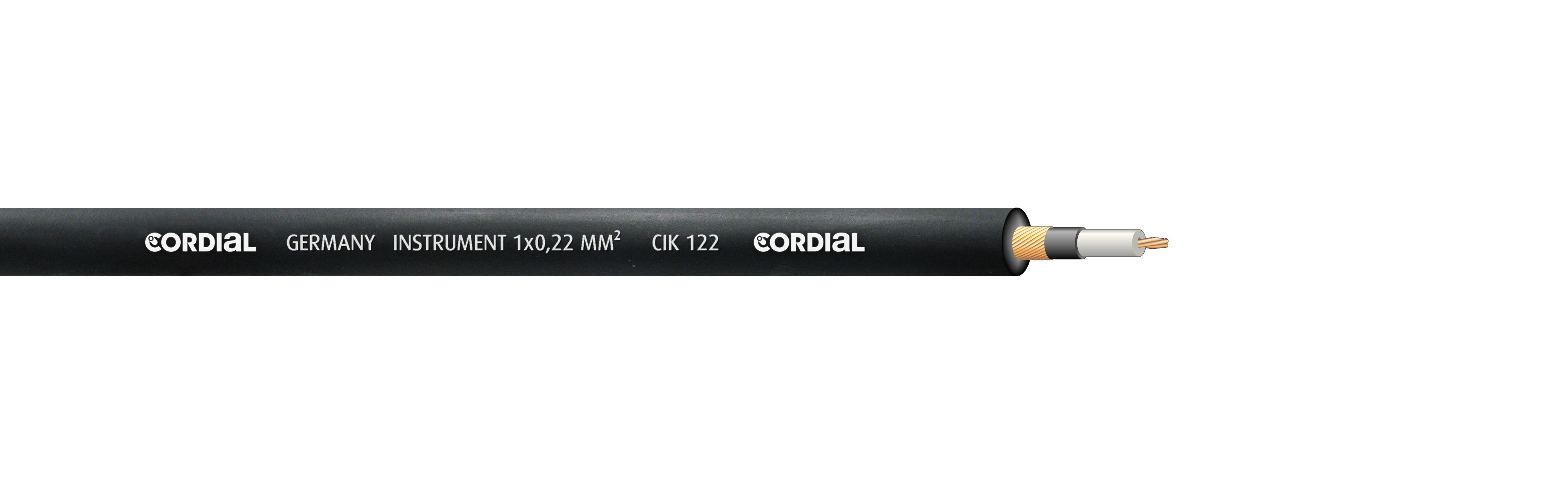 Cordial Instrumentenkabel Blau Rolle Meterware CIK-122