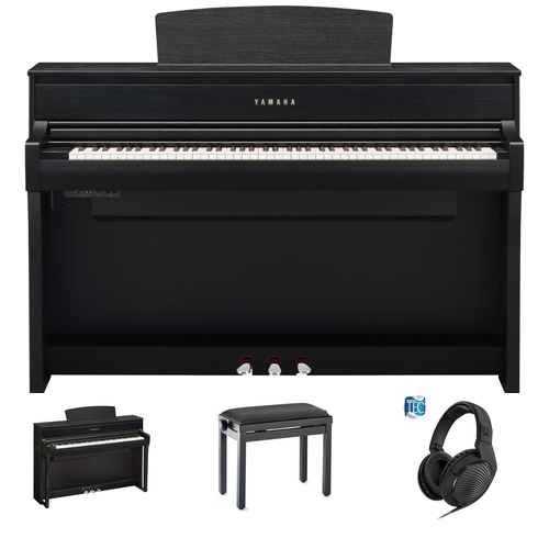 Yamaha CLP-775 B Digitalpiano Set/Bundle inkl. Aufbau
