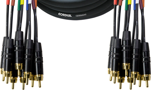Cordial 8 x Cinch Multicore Loom Patchkabel CML 8-0 CC 3 C
