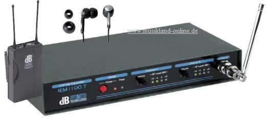 dB Technologies IEM-1100 N InEar Monitoring System inkl. Ohrhörer