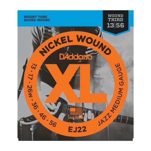 D'Addario EJ-22 XL Nickel Wound Jazz Medium 013-056