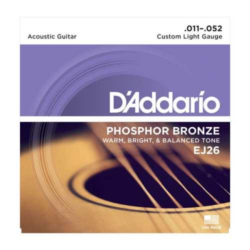 D'Addario EJ-26 Akustik Saiten 011-052 Phosphor Bronze