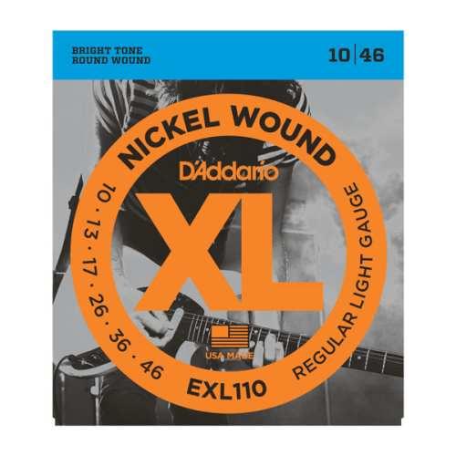 D'Addario 10er Paket EXL-110 E-Gitarren Saiten 010-046