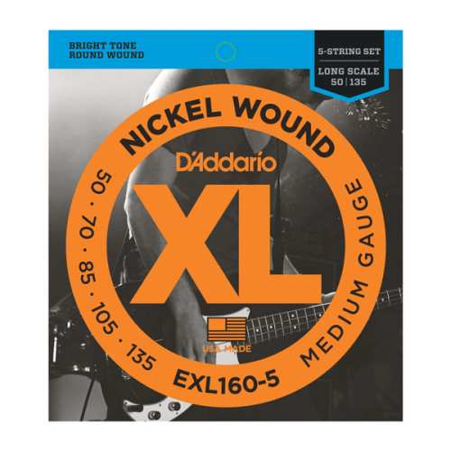 D'Addario EXL-160-5 Nickel E-Bass Saiten 5-String 050-135
