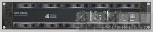 db Technologies HPA-3100 Endstufe 2x1200W/4 mit Schaltnetzteil, 14