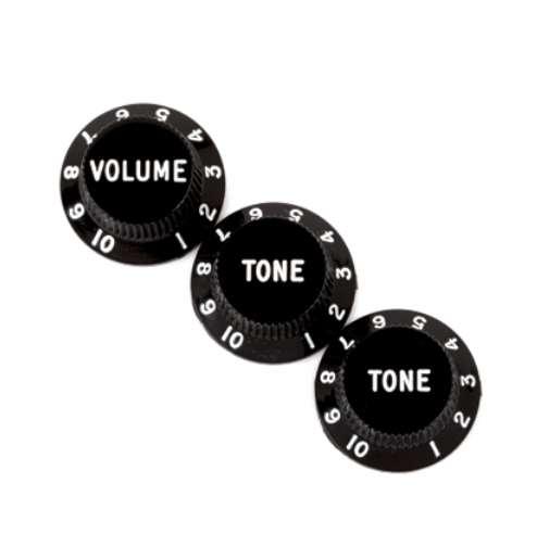 Fender Volumen Tone Knob Set black