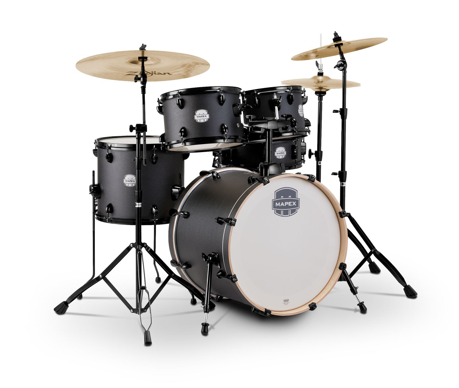 Mapex Storm Drumset 20 - Deep Black inkl HW und Becken