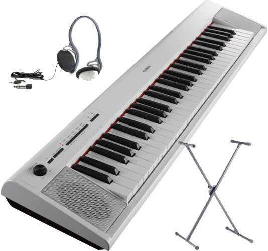 Yamaha NP-12 WH SET Portable Piano weiss