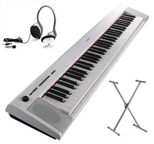 Yamaha NP-32 WH SET Portable Piano weiss