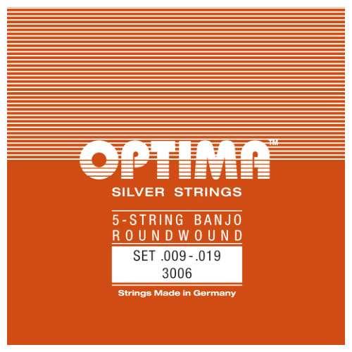 Optima 5-String Banjo Saiten Satz versilbert