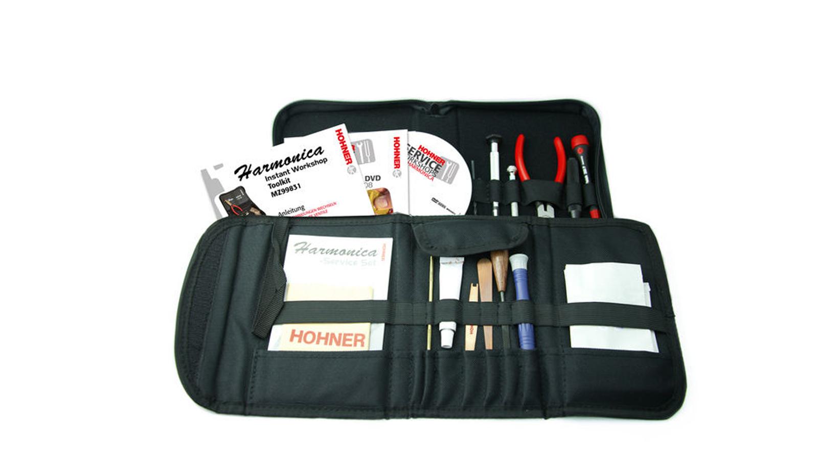 Hohner Werkzeugset Workshop Toolkit für Mundharmonikas HOMZ99832