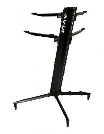 Stay Tower Keyboardständer schwarz 130cm; 2 Auflagen