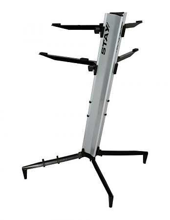 Stay Tower Keyboardständer silber 130cm; 2 Auflagen
