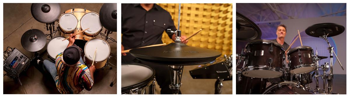 Roland VAD706 E-Drum spielen einfach V-Drum