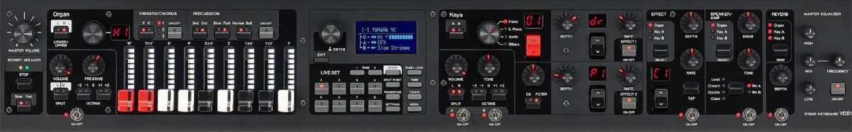 Yamaha YC-Serie Klangkontrollen